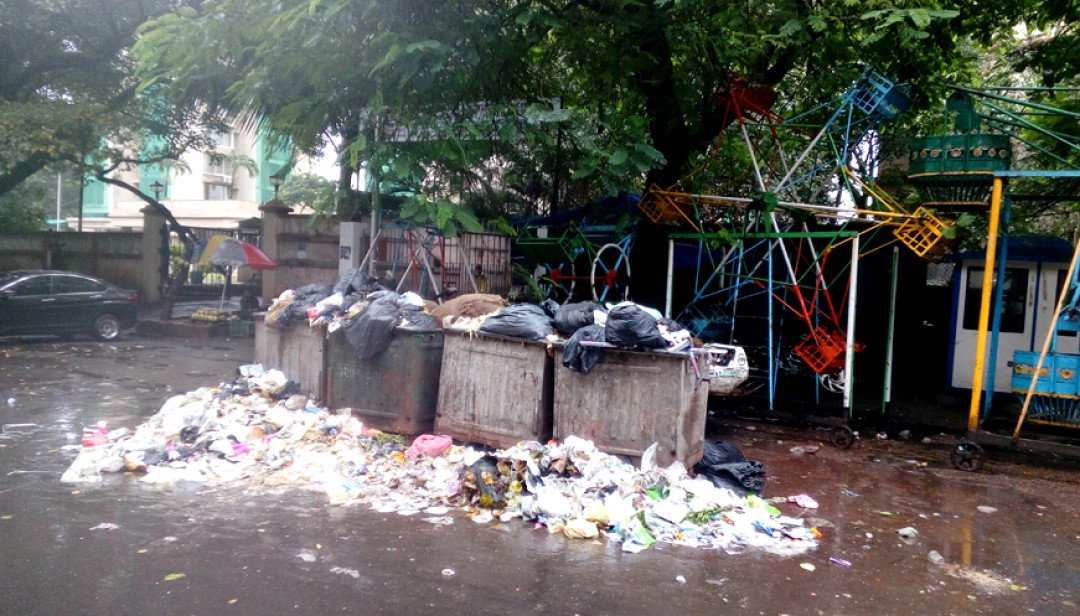 BMC's Solid Waste department overlooks Nariman Point