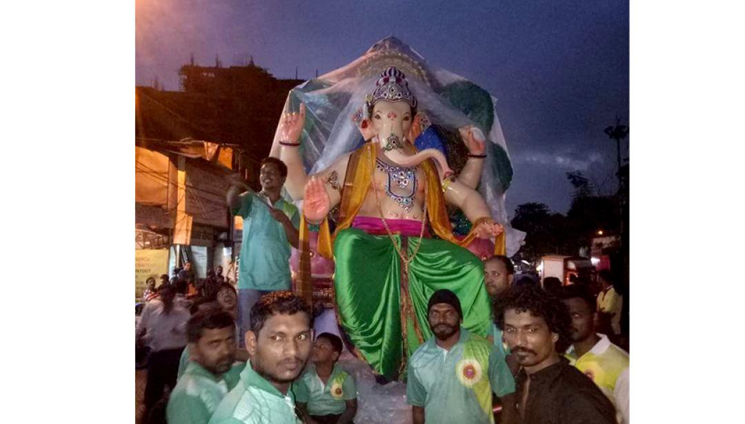 Muslim community has welcomed Ganpati bappa