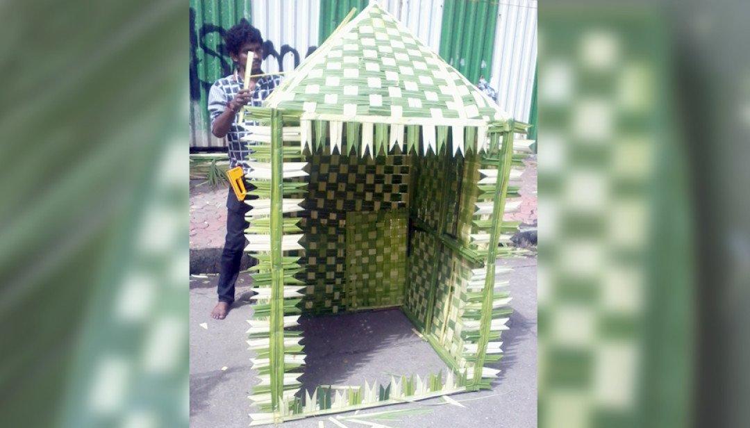 Matunga Market exhibits Eco- Friendly decoration