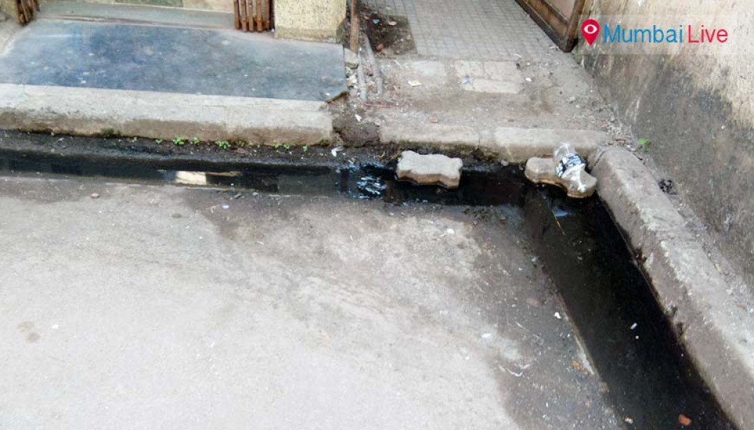 Sewage water on roads