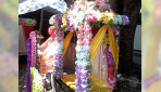 Plastic flowers decorated Mandap in demand!