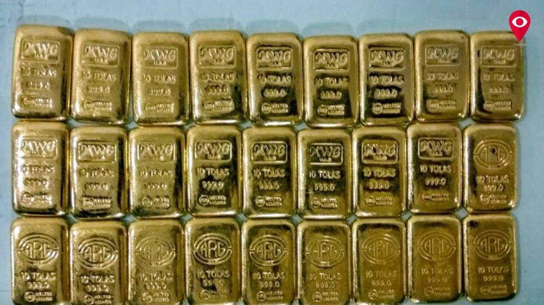 विमानतळावर प्रवाशाकडून 3 किलो सोने जप्त