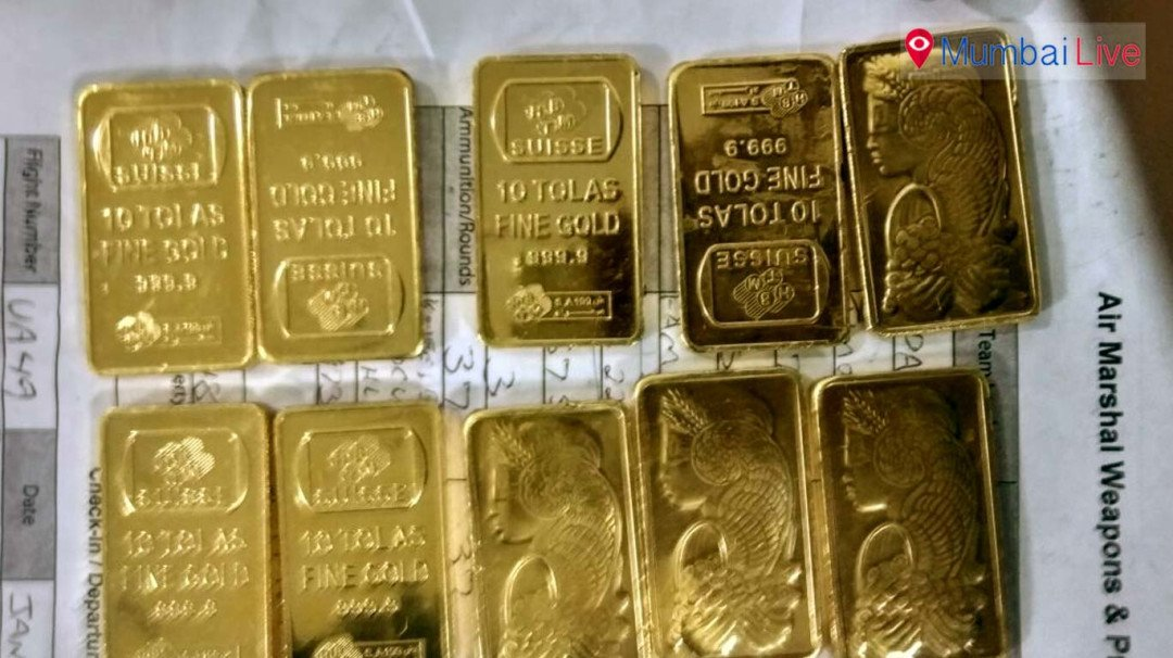 AIU arrest passenger with 10 gold bars