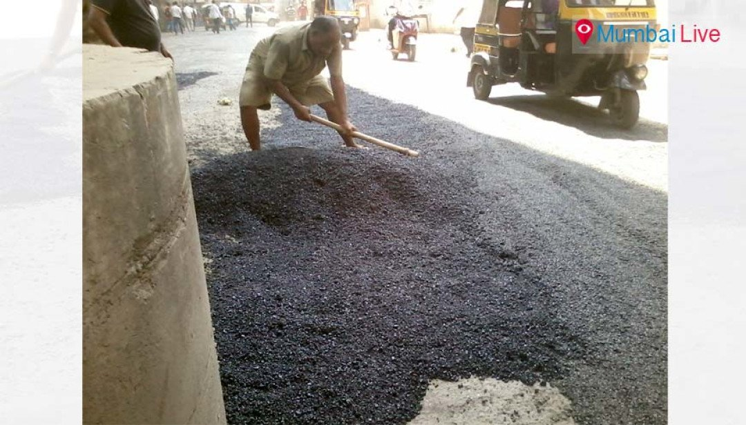 BMC begins potholes work on Golibar road