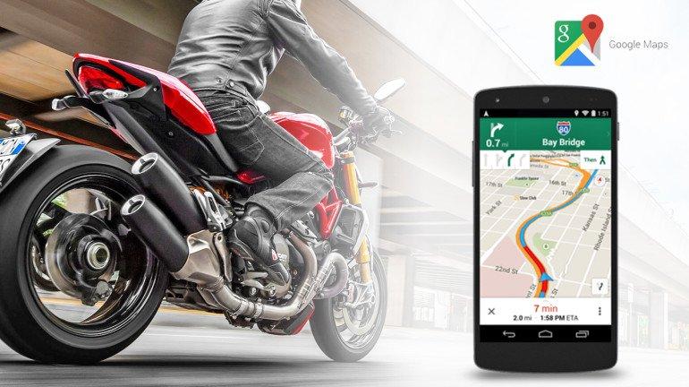 गूगल मॅप अाता बाईकस्वारांना रस्ता दाखवणार!