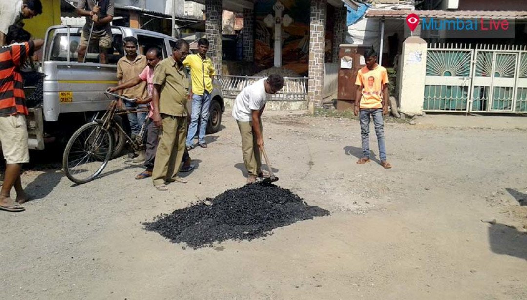 Corporator repairs the Gorai road