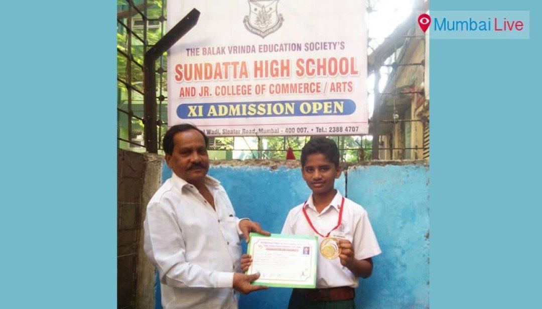 Divyesh Sakpal pockets gold medal