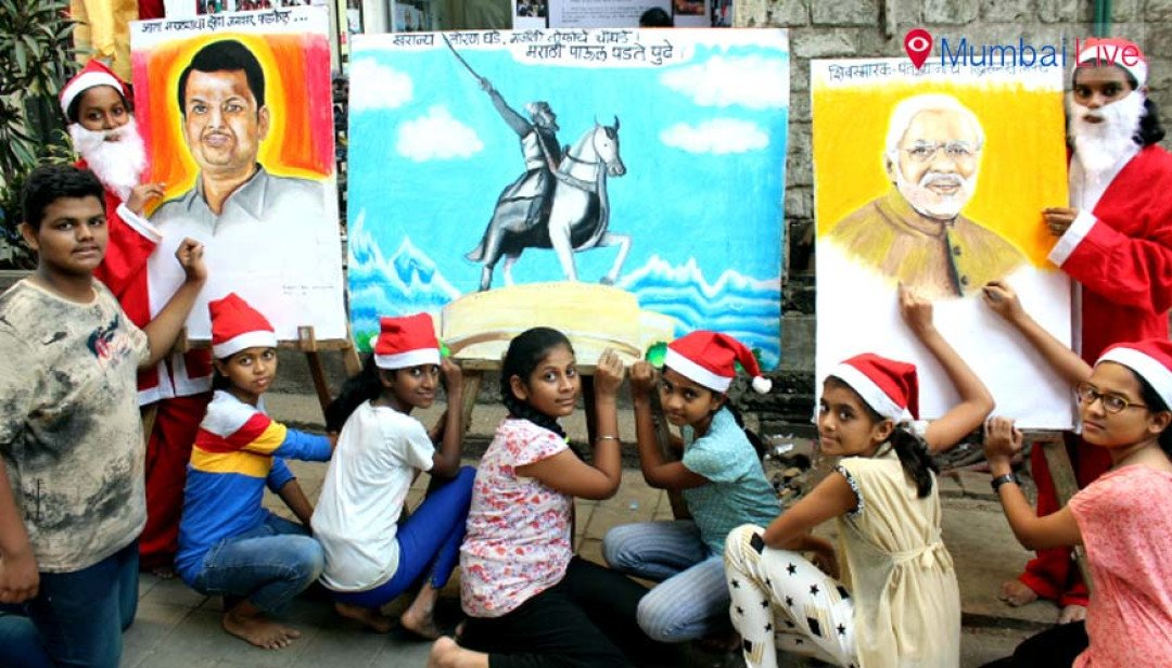 Paintings to welcome PM Modi