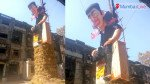 BDD chawl residents' burn effigy against corruption on Holika Dahan