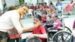 Marathi film director Ravi Jadhav celebrats Holi with special children