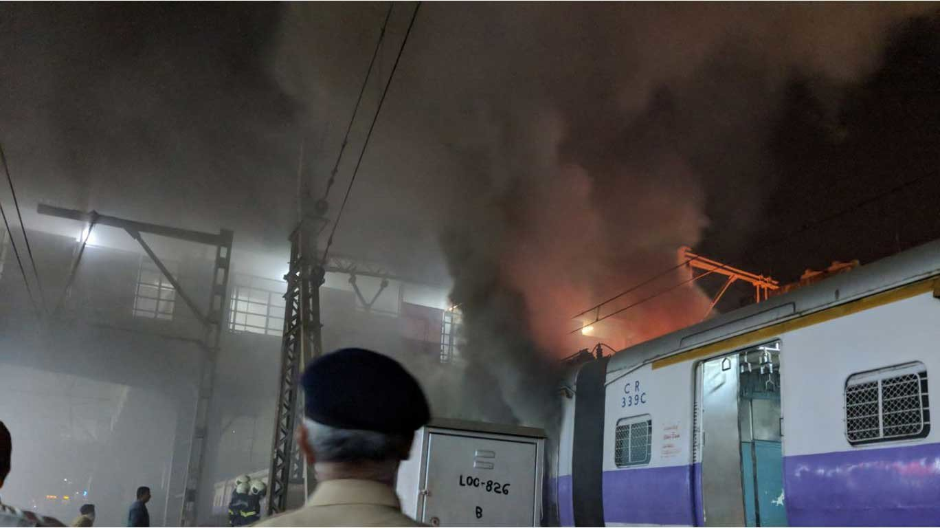 Fire breaks out in local train coach at Dadar Railway Station