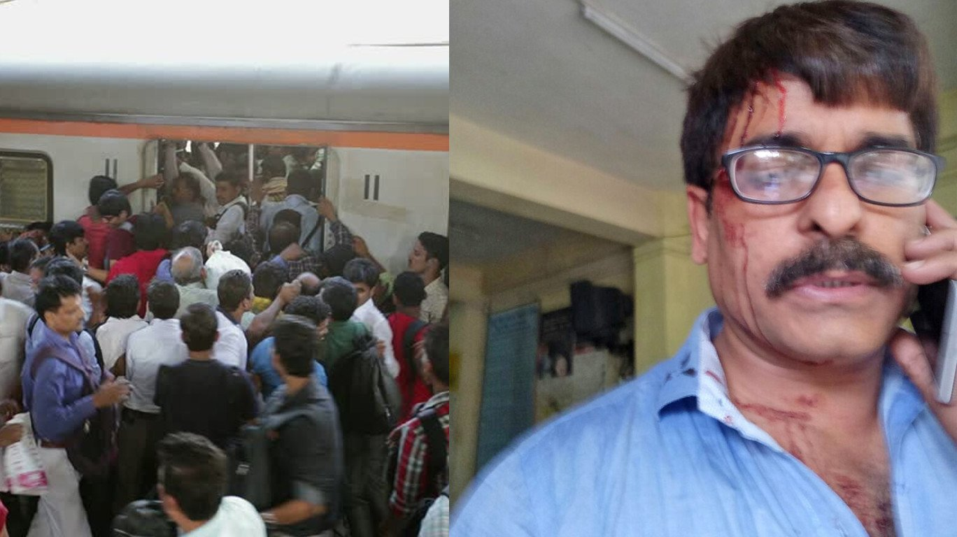 A Senior journalist assaulted by Co-passengers in mumbai local train