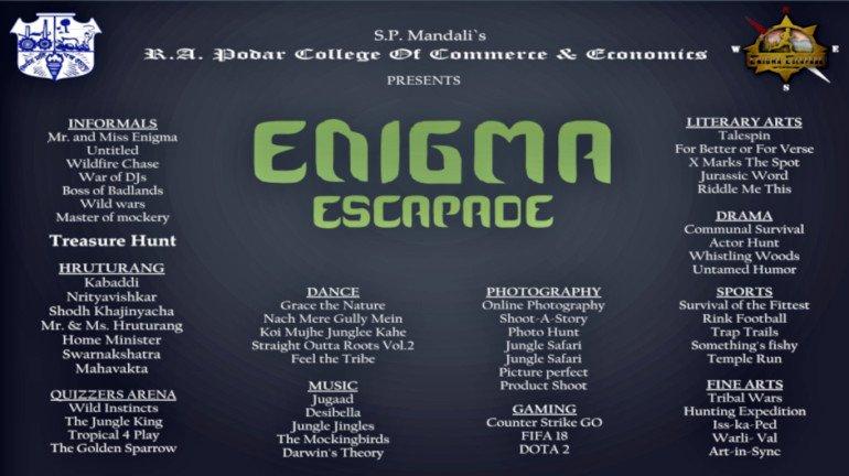 Podar Enigma 2018: The escapade to begin on August 23