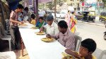 Food distribution for devotees