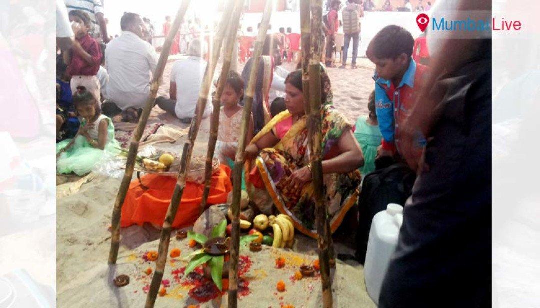 BJP organises Chhath Puja on Juhu beach