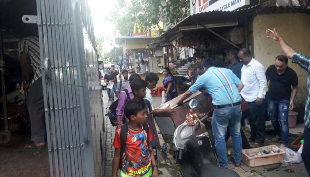BMC clears off hawkers menace