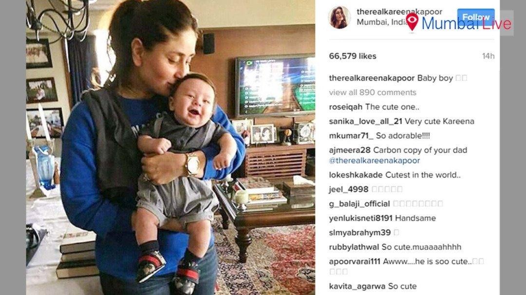 Kareena Kapoor poses with son Taimur, pic goes viral