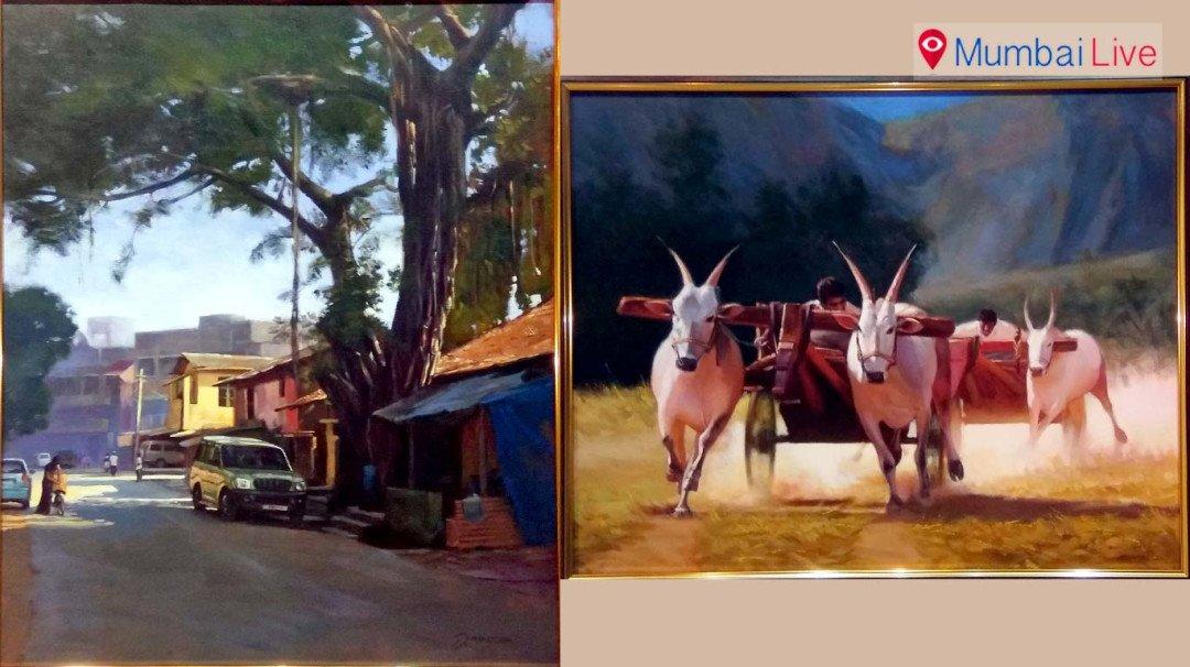 ग्रामीण जीवन शैली पर आधारित पेंटिंग्स