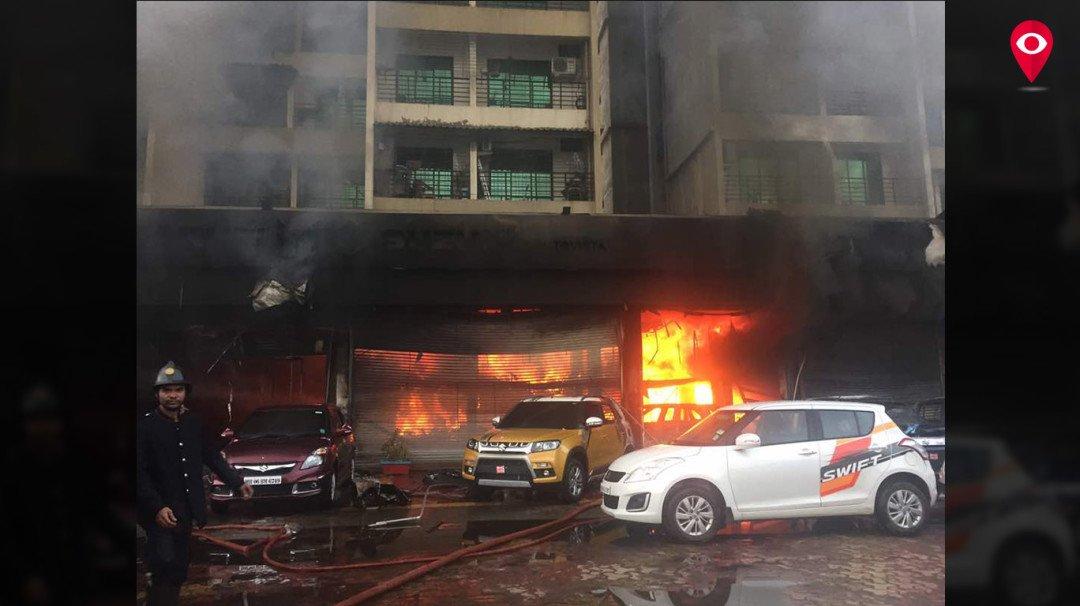 सुजुकी शोरूम में आग लगने से दो सिक्युरिटी गार्ड की मौत