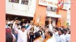 Kirit Somaiya celebrates victory of son Neil