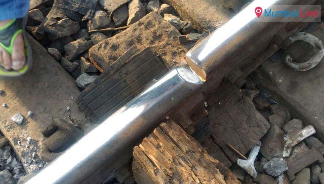 Rail fracture on Chunabhatti-Kurla track