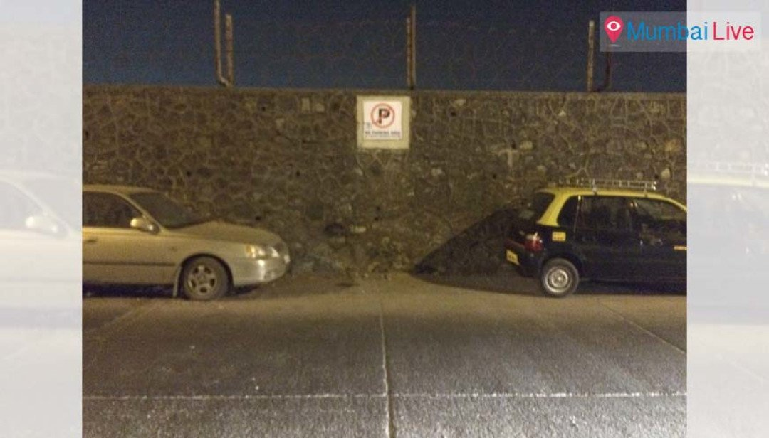 Illegal parking on airport road