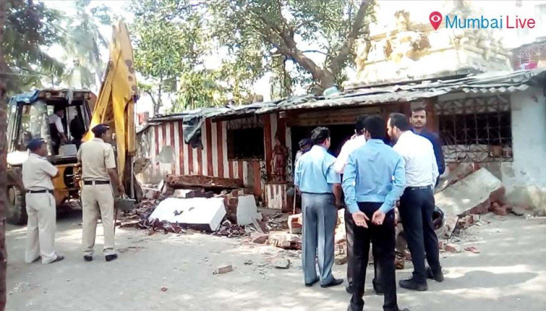 Illegal temple razed