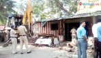 Illegal temple razed