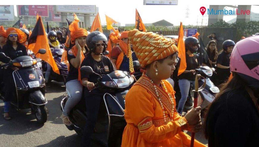 Glimpses of Maratha bike rally