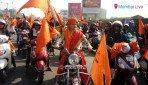 Heavy police bandobast for Maratha bike rally