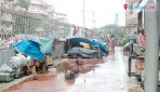 Destitutes encroach footpath