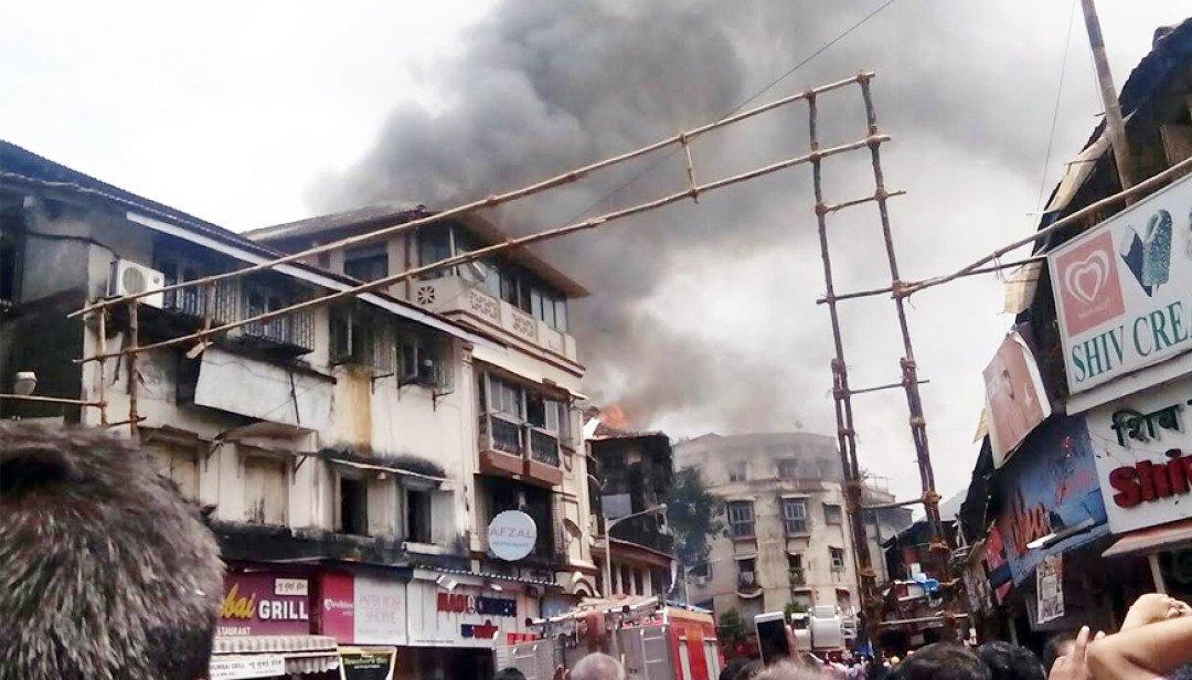 अखेर माझंगाव इमारतीची आग विझली