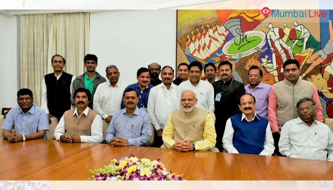 Correspondents met Narendra Modi