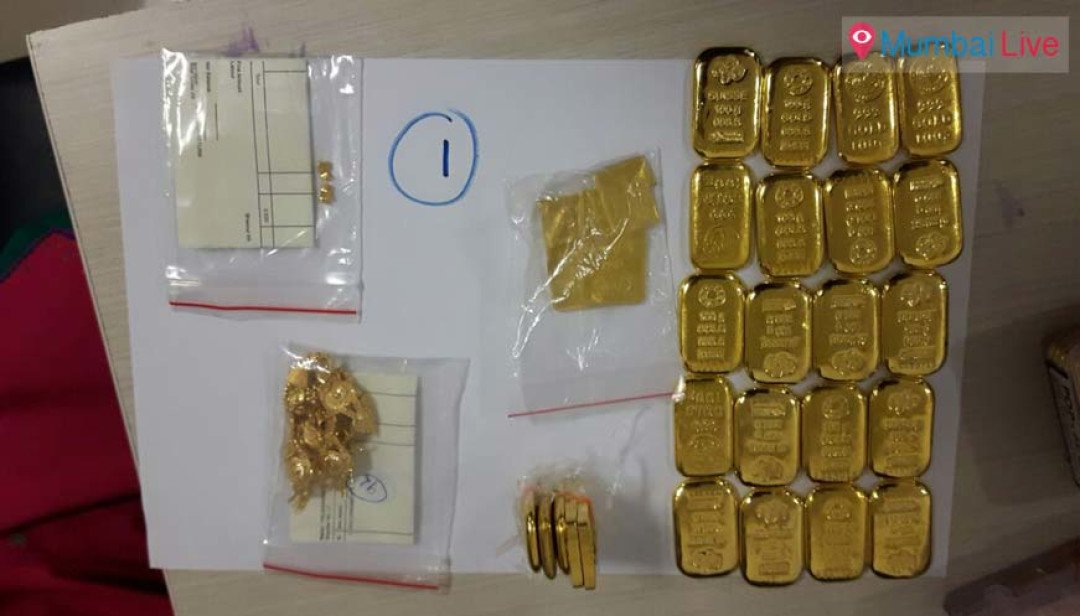 Gold and notes seized at airport
