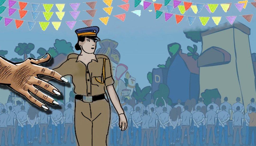 Devotee harms Women Constable