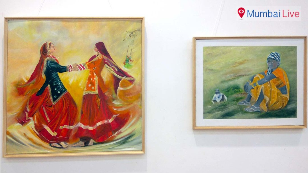 चित्रकार मीना दुबे यांचं निसर्गचित्र प्रदर्शन