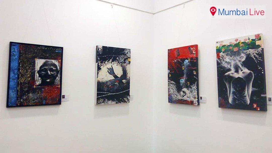 नेहरू सेंटरमध्ये चित्रांचे ग्रुप प्रदर्शन