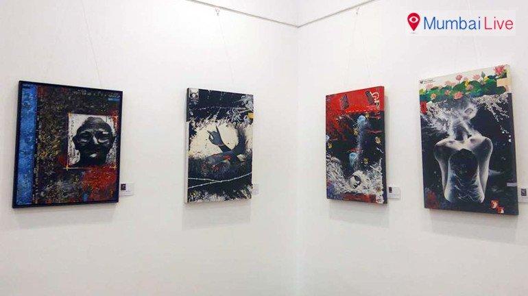 कला प्रेमियों के लिए अनोखी पेंटिंग की प्रदर्शनी