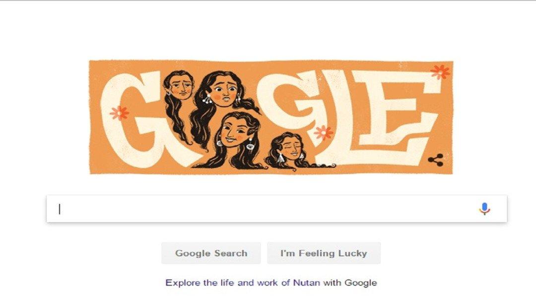 कुछ यू गुगल ने मनाया नूतन का जन्मदिन