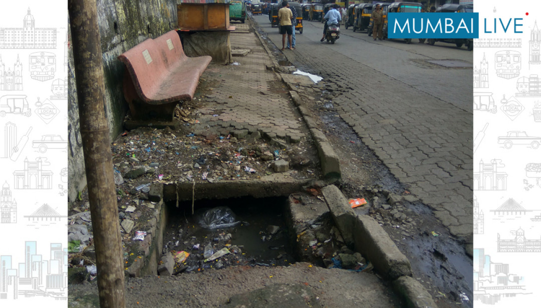 Open gutter a trouble for commuters