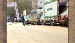 न्यू मिल रोडवर अवैध पार्किंग