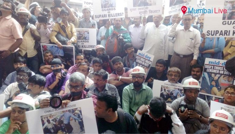 Journalists' march against attack on photographers