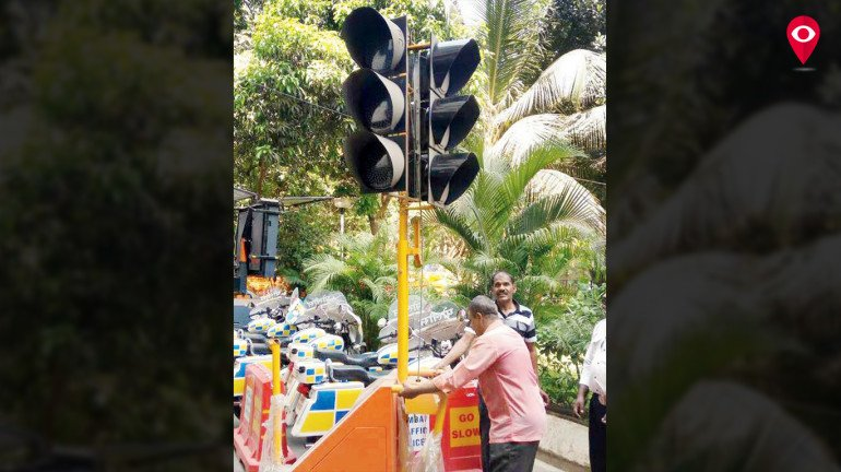 Portable Signals to end traffic woes in the city