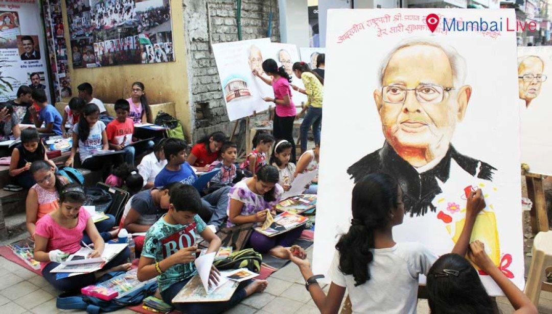 Gurukul school of art wishes India's President