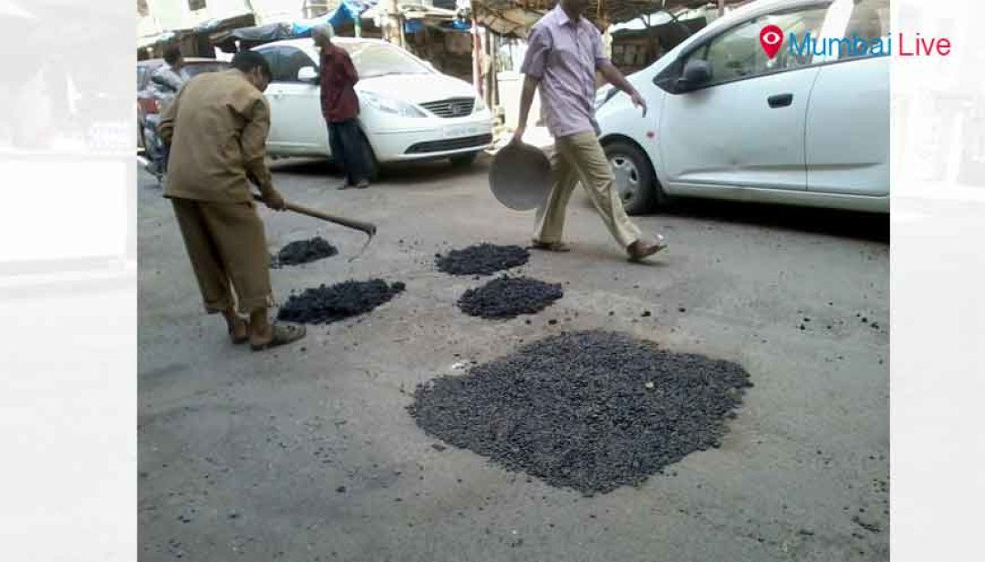 BMC begins road repairs at Pratiksha Nagar