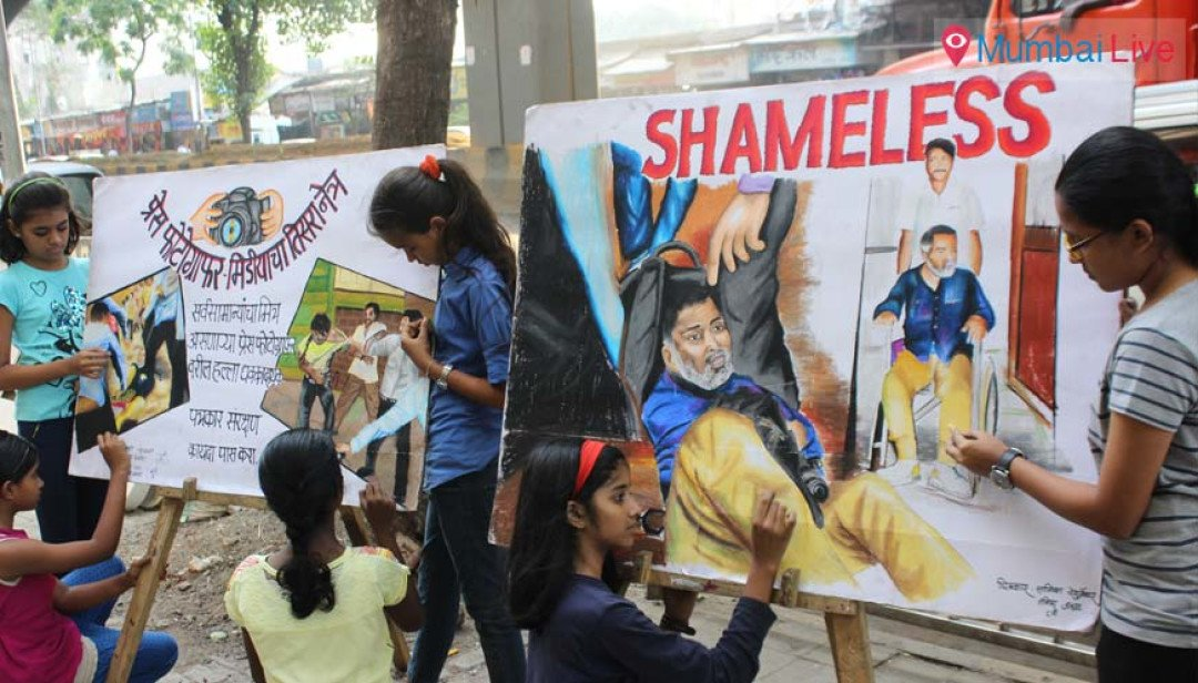 Child painters protest attack on photographers