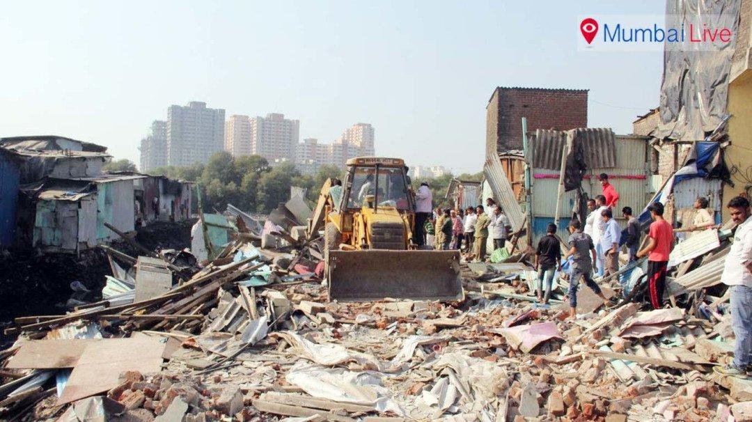 BMC razes slums for nullah widening