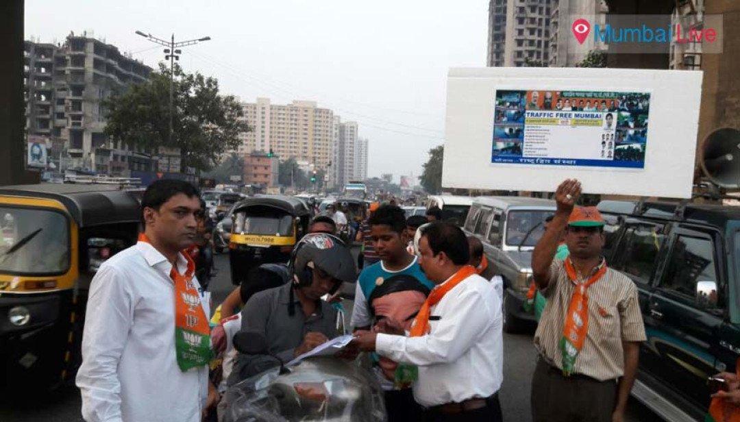 Signature campaign held for 'traffic free Mumbai'
