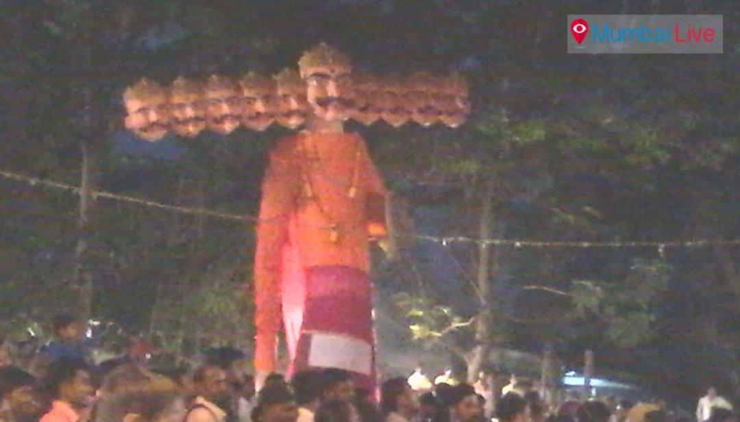 And Ravan goes up in flames at Vikhroli !