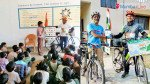 Man on a mission - youth cycles across country for environment conservation